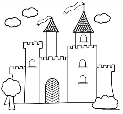 Disney Princess Castle Coloring Pages To Kids Castle Coloring Pages