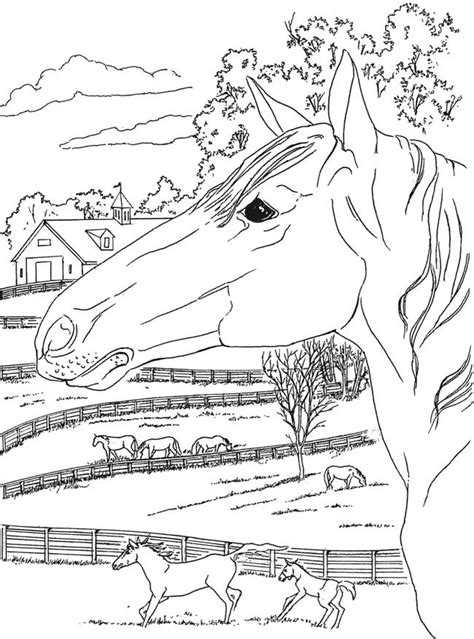 country landscape coloring page from creative haven country scenes coloring book