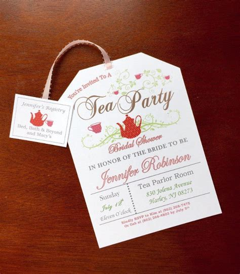 tea party birthday invitation template www imgkid com