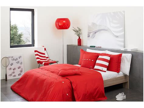 solid red comforter set lacoste brushed twill solid twin comforter set rococco red