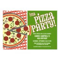pizza invitations zazzle