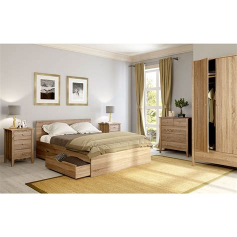 Mfi Fitted Wardrobes by Mfi Sydney Oak 3 Drawer Bedside Victoriaplum