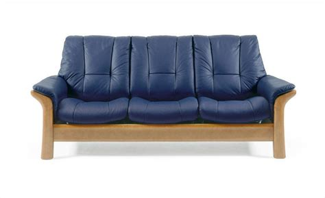 navy blue leather reclining sofa the stressless windsor low back leather sofa navy blue