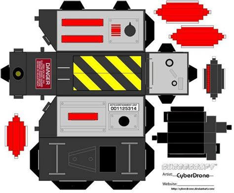Papercraft Props - ghostbusters trap papercraft by cyberdrone on deviantart