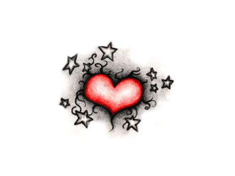 stars and heart tattoos designs beautiful and design
