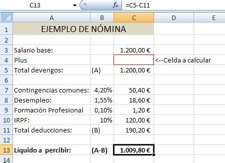 ejemplo de nomina en excel 2013 colombia buscar objetivo la opci 243 n de excel que nos permite