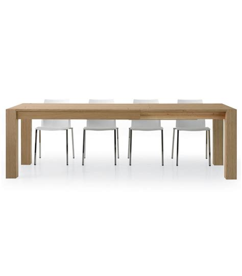 tavolo in legno naturale tavolo allungabile in legno rovere naturale spazzolato