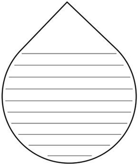 raindrop template with lines go away writing templates