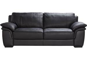 Crawford home grand palazzo black leather sofa leather sofas black