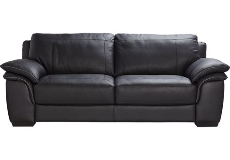 Home Grand Palazzo Black Leather Sofa