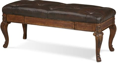 bench world old world storage leather bench from art 143149 2606