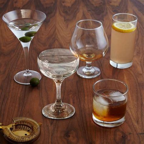 Bar Glassware Set Essential Bar Glassware Set Of 6 West Elm