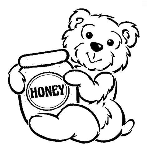 honey bear coloring pages coloring page of a honey bee pot autos post