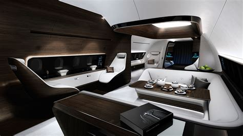 private jet interiors mercedes dreams up a swanky interior for private jets wired