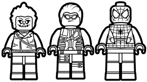 lego hawkeye coloring page lego spiderman and lego ghost rider lego hawkeye