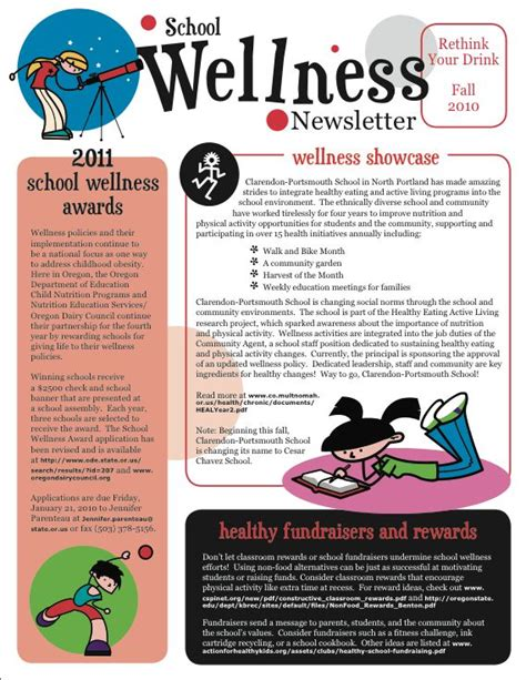 health and wellness newsletter template 7 best images about newsletter designs on