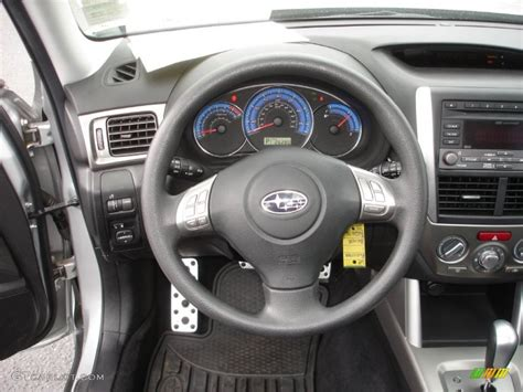 subaru forester steering wheel 2009 subaru forester 2 5 xt black steering wheel photo