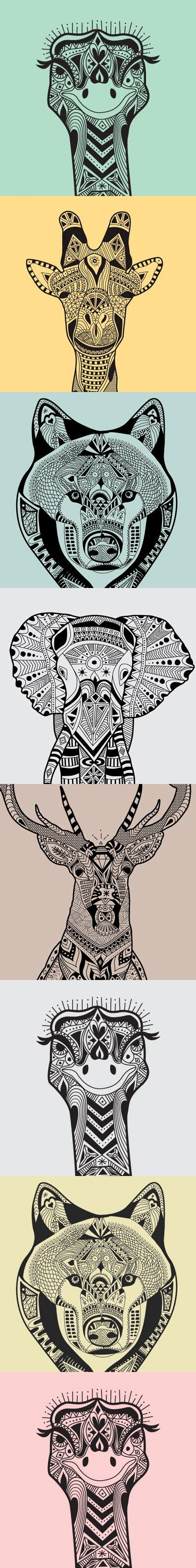 doodle pattern animals wild animals zentangle patterns zentangle more doodle