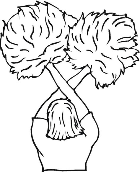 Free Coloring Pages Of Pom Poms And Megaphone Pom Pom Coloring Pages