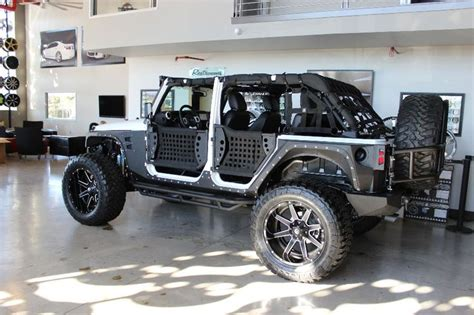 2014 Jeep Wrangler Mods 2014 White Jeep Wrangler Unlimited Sport With 4 Lift And