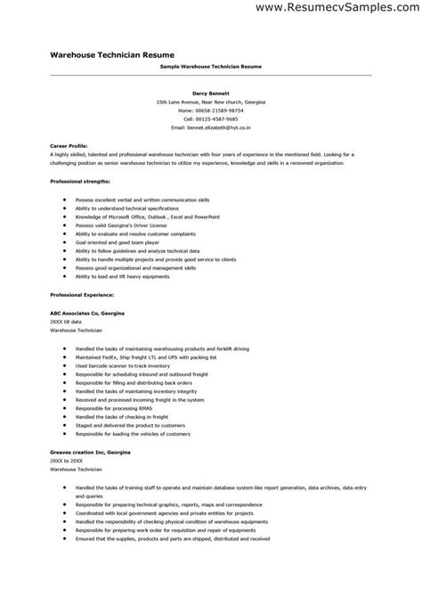 Warehouse Resume Format by Best Warehouse Resume Exles Warehouse Is A Commercial Building For Storage Of Goods Resume