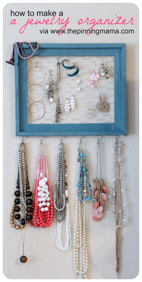 make a jewelry organizer diy how to make a jewelry organizer the pinning