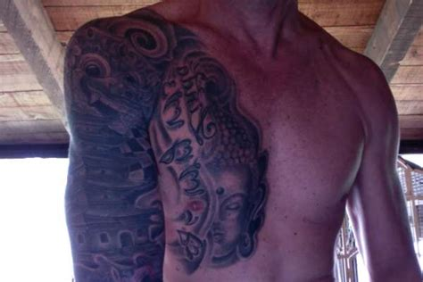 balinese buddha amp temple tattoo