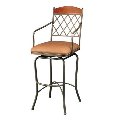 Armed Bar Stools by Pastel Furniture Napa Ridge 30 Swivel Arm Bar Stool In