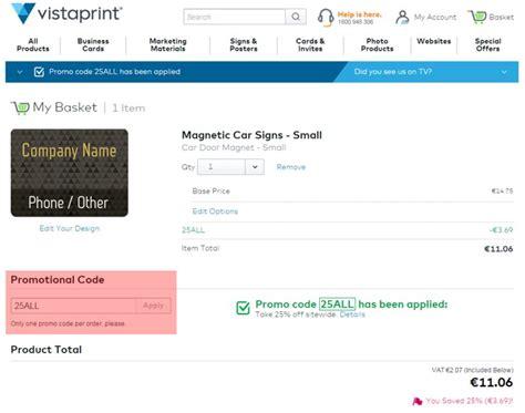 vistaprint ie voucher 50 discount code 10 more