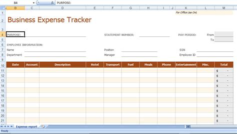 Excel Business Expense Tracker Template Personal Budget Spreadsheet Free Template For Expense Tracker Excel Template