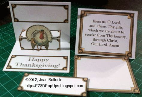 Thanksgiving Pop Up Cards Templates by Ez3d Pop Ups Thanksgiving Turkey Pop Up Place Card