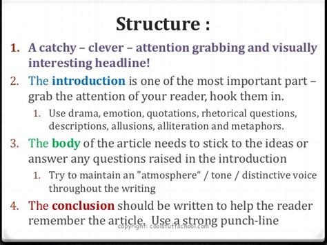 top tips for quot how to quot write a feature article