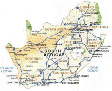 free printable road maps south africa south africa street map map of africa