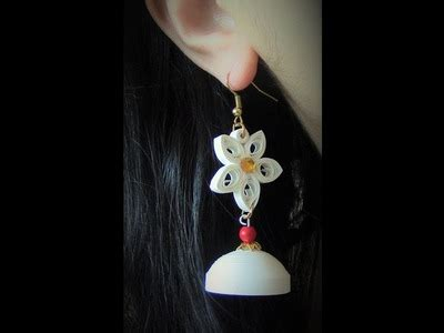 quilling jhumka tutorial video quilling how to make quilling candle stand in home