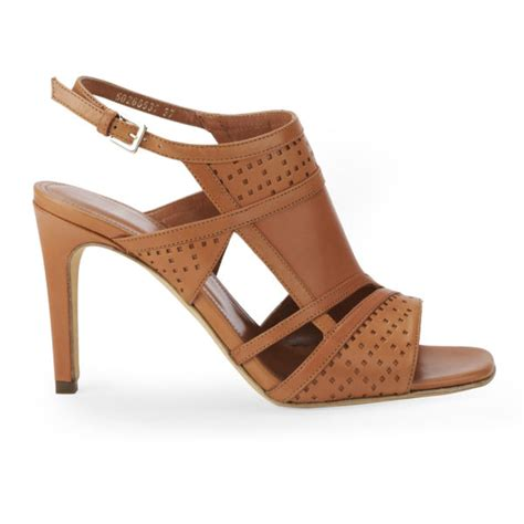 brown heeled sandals hugo s moiry leather strappy heeled