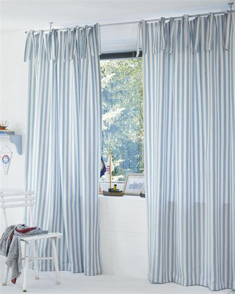 vorhang grau blau vorhang blau wei 223 gestreift frisch gardine blau wei