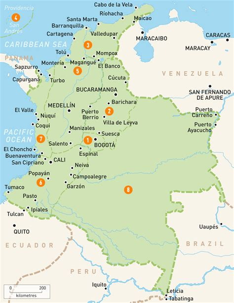 map of columbia map of colombia colombia regions guides