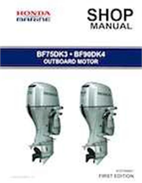 Honda Bf75dk3 Bf90dk4 Outboards Shop Service Manual 2014