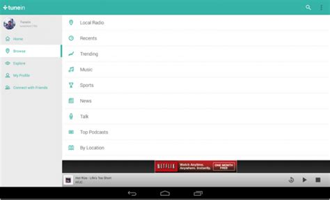 tunein radio apk free tunein radio 12 2 apk for android