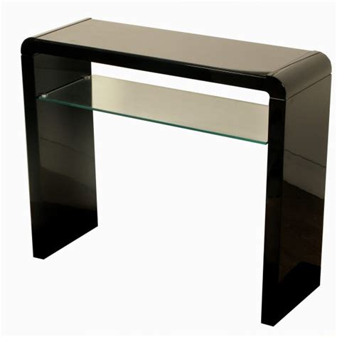 Black Gloss Console Table Modern Black High Gloss Console Table Furniture Living Room Hallway Glass Shelf Ebay
