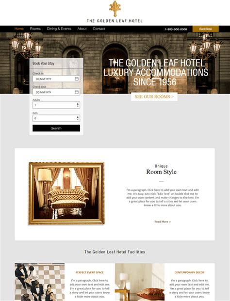 wix newsletter template 12 of the best free hotel wix templates