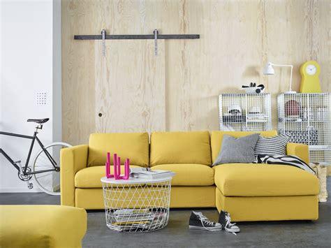 wohnzimmer chaiselongues vimle 4 zitsbank met chaise longue orrsta goudgeel
