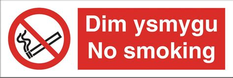 no smoking sign large welsh no smoking sign large 600 x 200hmm rigid plastic