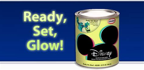 glow in the paint glidden disney specialty finishes ready set glow a glow in