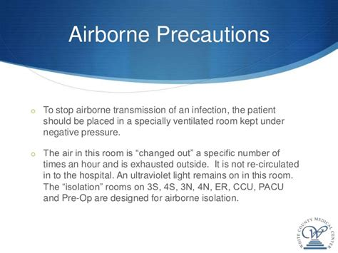 Negative Pressure Room Airborne Precautions by Isolation And Standard Precautions