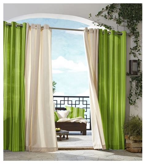 how to decorate curtains commonwealth home fashions outdoor decor gazebo stripe