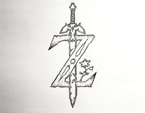 Z Drawing Images by The Legend Of Breath Of The Z Logo By