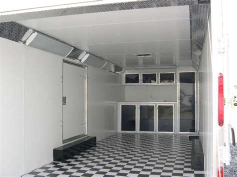 enclosed trailer cabinets accessories carmate 8 5 x 24 enclosed car trailer custom cabinets