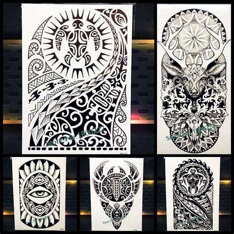 dwayne johnson tattoo stencil grand corps art bras manches tatouage temporaire