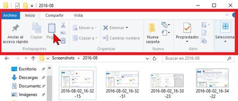 mostrar imagenes windows 10 c 243 mo mostrar u ocultar la cinta de opciones en windows 10